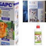 बिल्लियों और कुत्तों के लिए फ्ली शैंपू